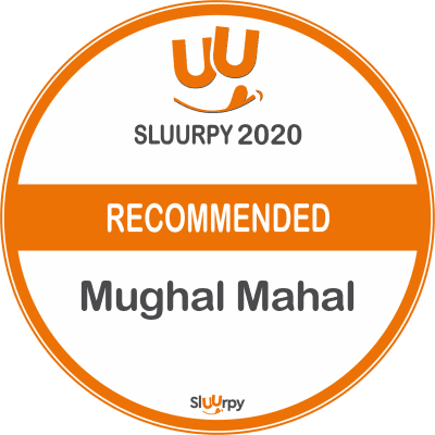 Sluurpy 2020 Recommended Badge for Mughal Mahal Restaurant in Mississauga